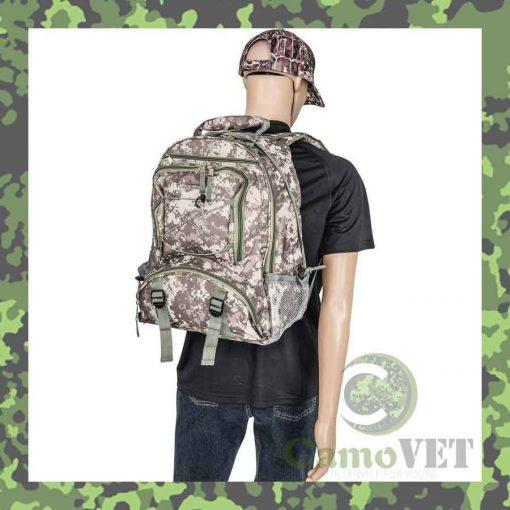 water resistant digital camo backpack
