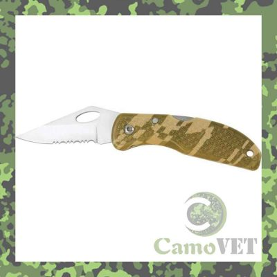 lock blade knife camouflage